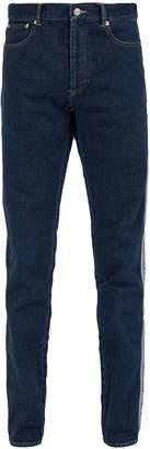 Givenchy Logo side-stripe slim-fit jeans