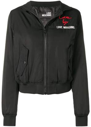 Love Moschino logo fitted bomber jaket