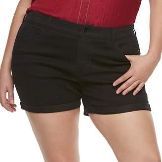 JLO by Jennifer Lopez Plus Size MidRise Cuffed Twill Shorts