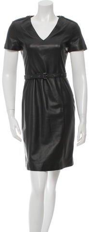 Burberry Burberry Leather A-Line Dress