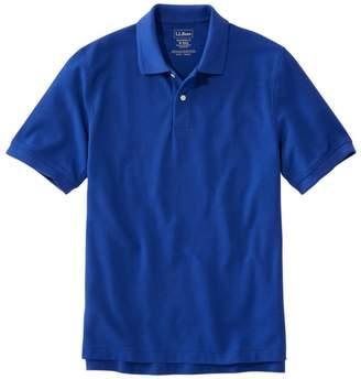 L.L. Bean L.L.Bean Men's Premium Double LA Polo Banded, Short-Sleeve Without Pocket
