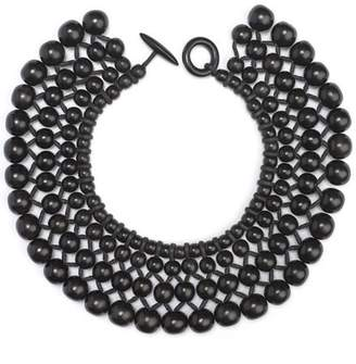 Josie Natori Four Layer Beaded Necklace