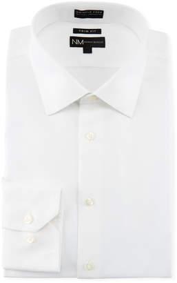 Neiman Marcus Men's Trim-Fit Non-Iron Texture Solid Dress Shirt