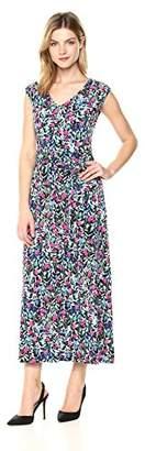 Nine West Women's Sleeveless Blouson Maxi Dress