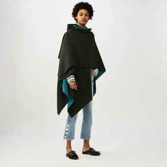 Maje Reversible hooded poncho