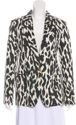 Celine Animal Print Peak-Lapel Blazer
