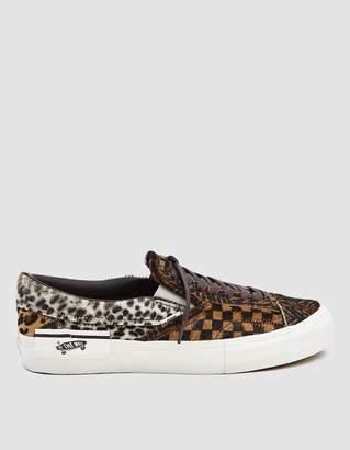 Vans Vault By Slip-On Cap LX Sneaker in Multi Animal
