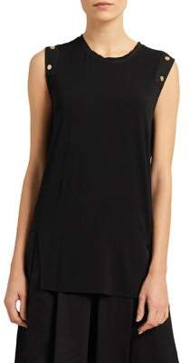 Donna Karan Layered Mixed Media Tunic