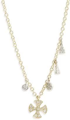 Meira T Cross Charm Pendant Necklace
