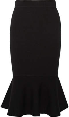 Michael Kors Collection - Stretch-knit Midi Skirt - Black $895 thestylecure.com