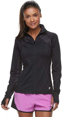 Fila Sport Women's SPORT Print Thumb Hole Zip-Up Jacket