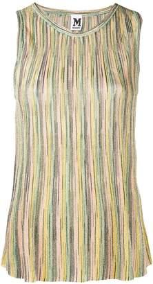 M Missoni metallic sheen striped vest