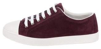 Prada Sport Suede Low-Top Sneakers
