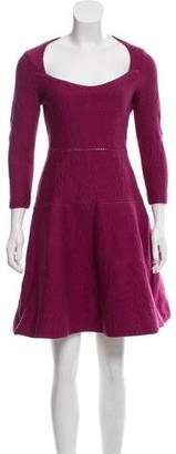 Zac Posen Knit Fit & Flare Dress
