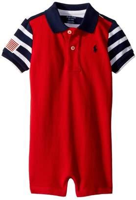 Ralph Lauren Color Blocked Cotton Shortall Boy's Overalls One Piece