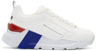 MSGM White Chunky Sole Sneakers