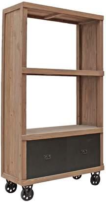 Hudson Furniture Industrial Furniture Industrial Bookshelf with Drawers