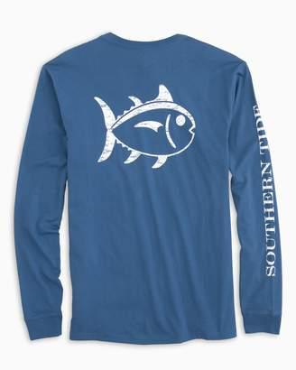 Southern Tide Distressed Outline Skipjack Long Sleeve T-shirt