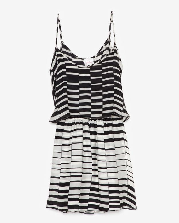 Parker Lolly Open Back Silk Print Dress
