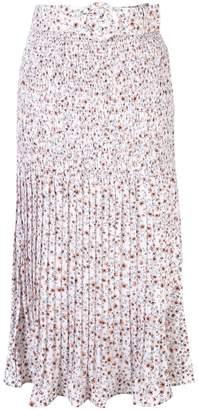 Nicholas poppy-print skirt