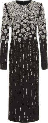 Givenchy Embellished Embroidered Crepe Midi Dress