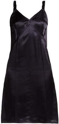 Helmut Lang V-neck satin slip dress