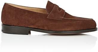John Lobb Men's Lopez Suede Penny Loafers