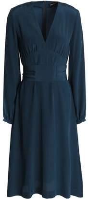 Vanessa Seward Gathered Silk Crepe De Chine Dress
