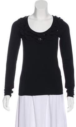 Etro Embellished Long Sleeve T-Shirt