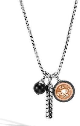 John Hardy Men's Classic Chain Triple-Pendant Necklace