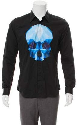 Alexander McQueen Skull Graphic Button-Up Shirt