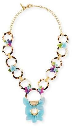 Lele Sadoughi Rio Floral Crystal Pendant Necklace