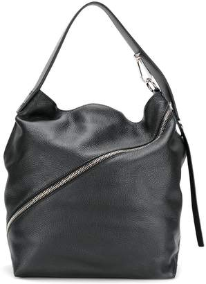 Proenza Schouler Medium Pebbled Leather Zip Hobo