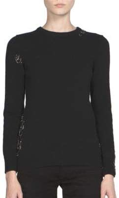 Saint Laurent Cashmere Rib-Knit Sweater