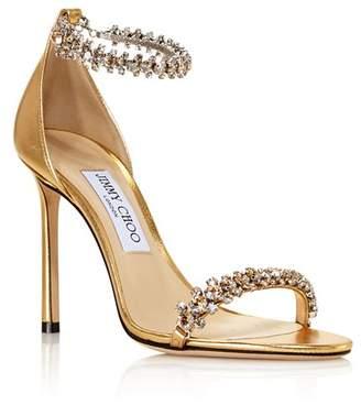 f7fa667371 Jimmy Choo Women's Shiloh 100 Crystal Embellished High-Heel Sandals