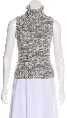 Michael Kors Knit Cashmere Sleeveless Turtleneck