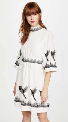 Vilshenko Linea Bird Mini Dress