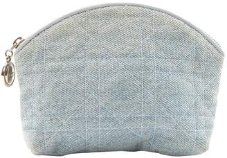 Christian Dior Vintage Blue Cloth Clutch Bag