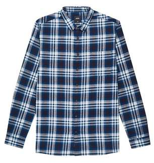 Mens Big & Tall Long Sleeve Brushed Check Shirt