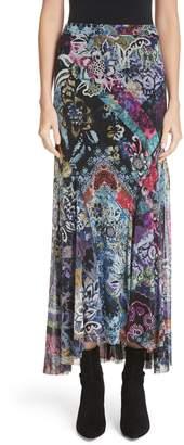 Fuzzi Floral Patchwork Maxi Skirt