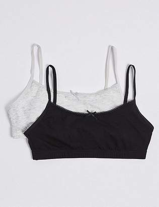 Marks and Spencer Cotton Crop Tops with Stretch (6-16 Years)