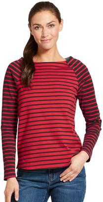 Izod Women's Striped Elbow-Patch Top