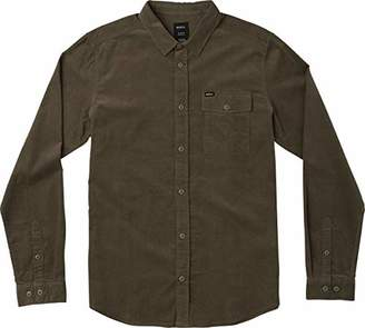 RVCA Men's LE Fleur Long Sleeve Woven Button UP Shirt