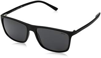 Polo Ralph Lauren Men's Injected Man Rectangular Sunglasses