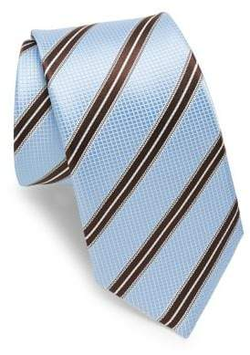 Ike Behar Blue& Brown Stripe Tie