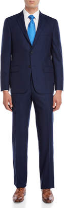 Hickey Freeman Two-Piece Navy Pinstripe Suit
