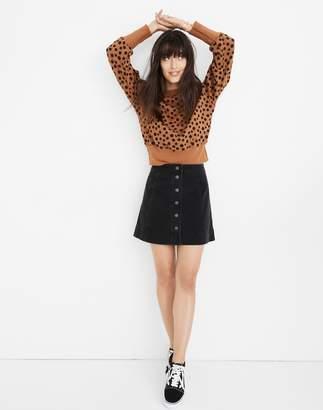 Madewell Metropolis Snap Jean Skirt in Rawley Black
