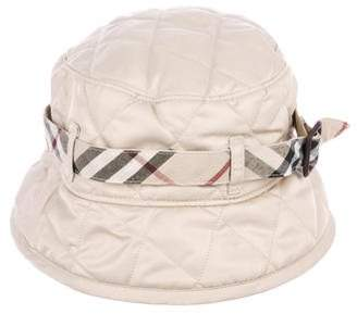 Burberry Nova Check-Trimmed Bucket Hat