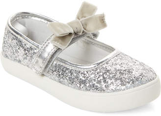 Carter's Toddler Girls) Silver Angelyn Glitter Mary Jane Shoes