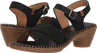 El Naturalista Women's N5325 Pleasant /Aqua Heeled Sandal